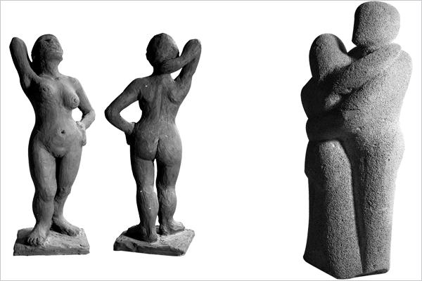 Galerie Sabine Schmidt-Malaj, Skulpturen aus Ton und Ytong