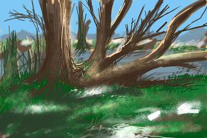 Liegebaum an der Amper_600