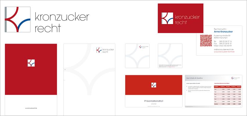 Grafik Design Coaching Dienstleistungen Anne Kronzucker, Logo, Visitenkarte, Briefbogen, Präsentationsmappe