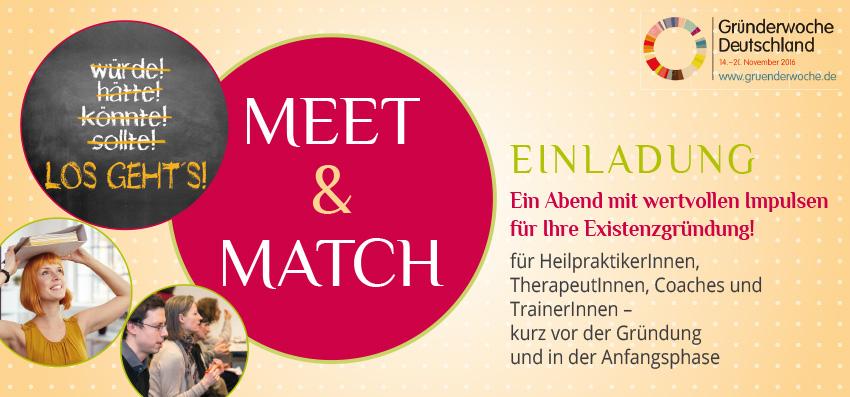 Gründerwoche Deutschland, Veranstaltung MEET & MATCH mit Heidrun Peschen