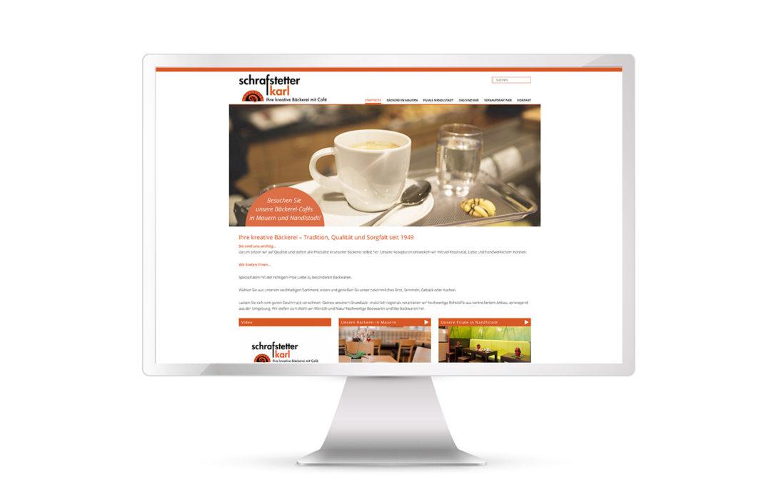 Neue Website für Bäckerei