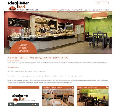 Website Bäckerei Schrafstetter