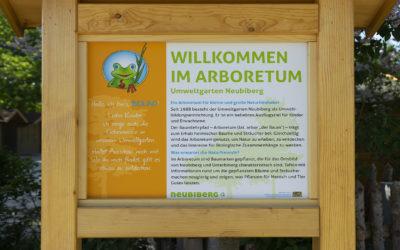 Neue Beschilderung zum Jubiläum – der Umweltgarten Neubiberg wird 30 Jahre!