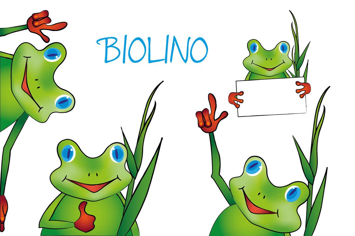 Maskottchen Biolino Varianten Umweltgarten Neubiberg