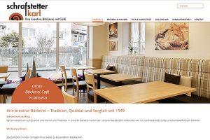 Website erstellen Bäckerei Schrafstetter