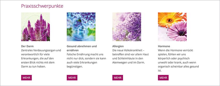 Bildsprache Website Dr. Andrea Blässing, Puchheim