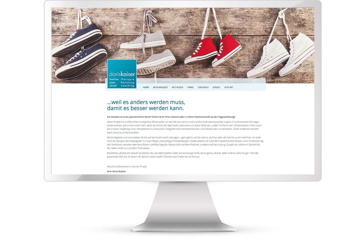 Website erstellen, Doris Kaiser, Familientherapie, Langenbach