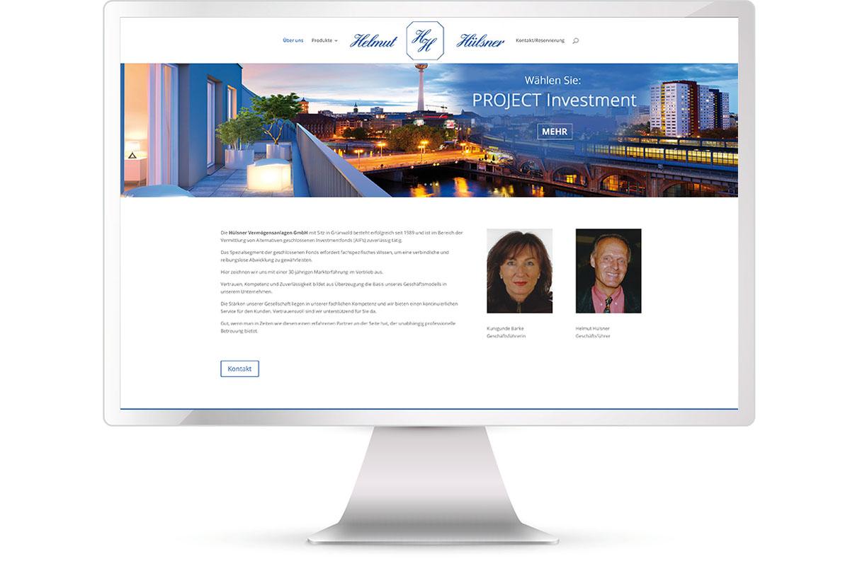 Website erstellen, Hülsen Vermögensanlagen, München-Grünwald