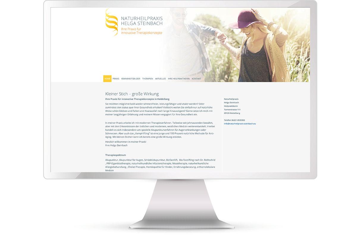 Website erstellen, Helga Steinbach, Heilpraktikerin, Heidelberg