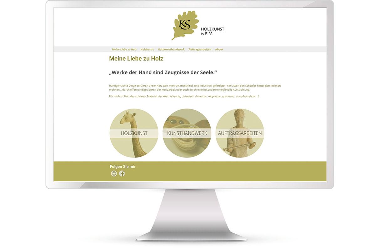 Website erstellen, Kim Schypulla, Holzkunst, München