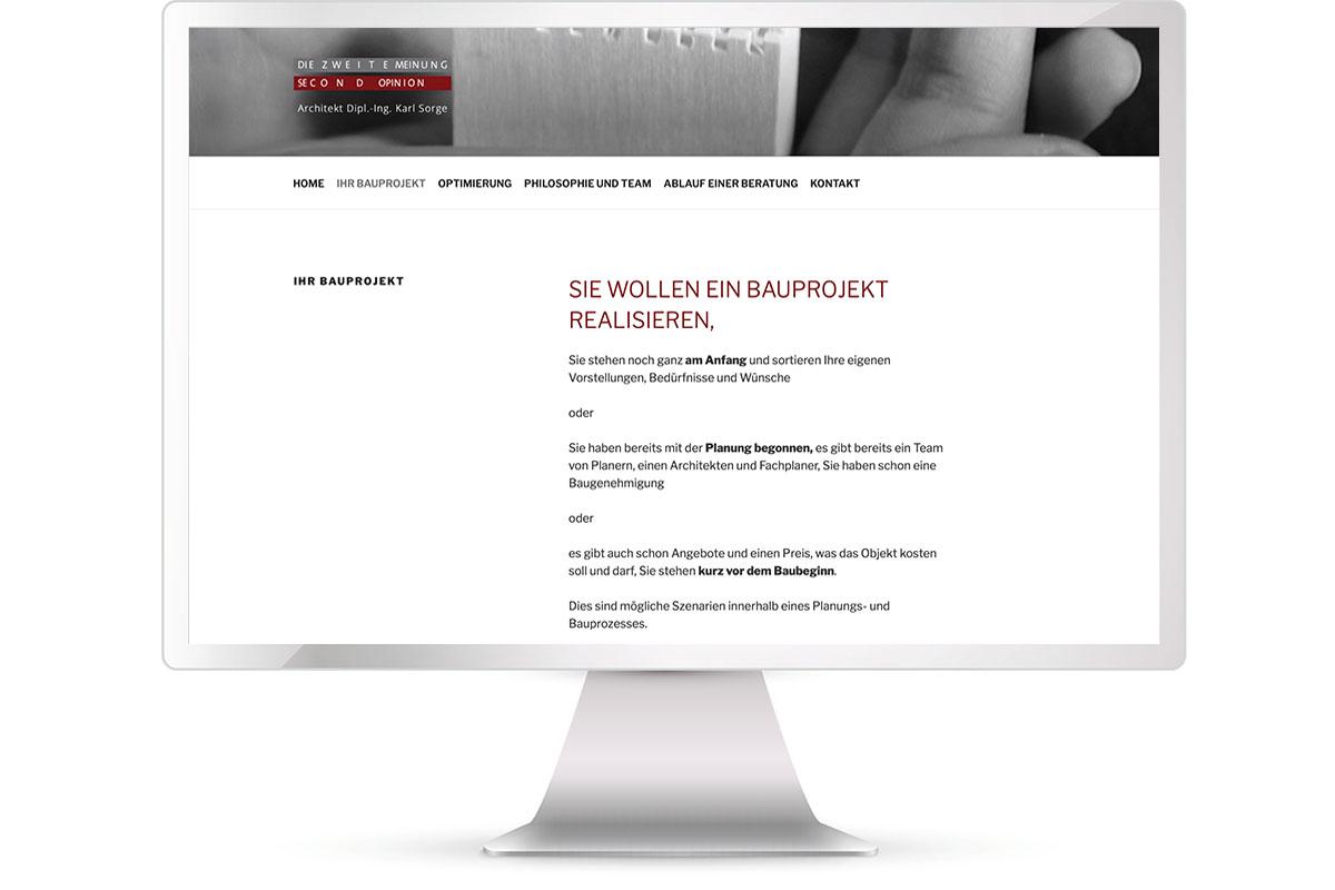 Website erstellen, Karl Sorge, Architekt, München