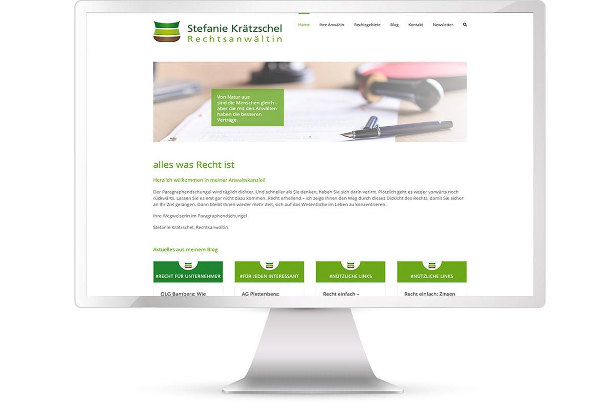 Website erstellen, Stefanie Krätzschel, Rechtsanwältin, Freising