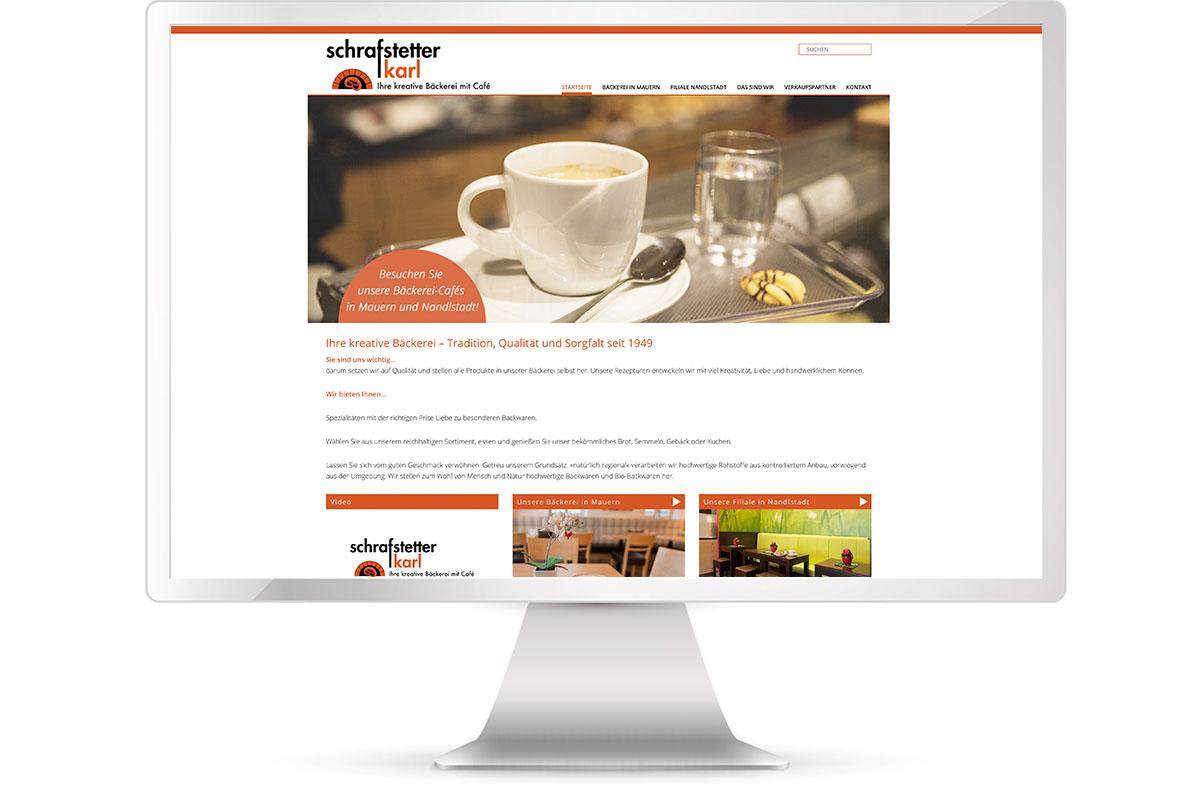 Website erstellen, Bäckerei Schrafstetter, Mauern