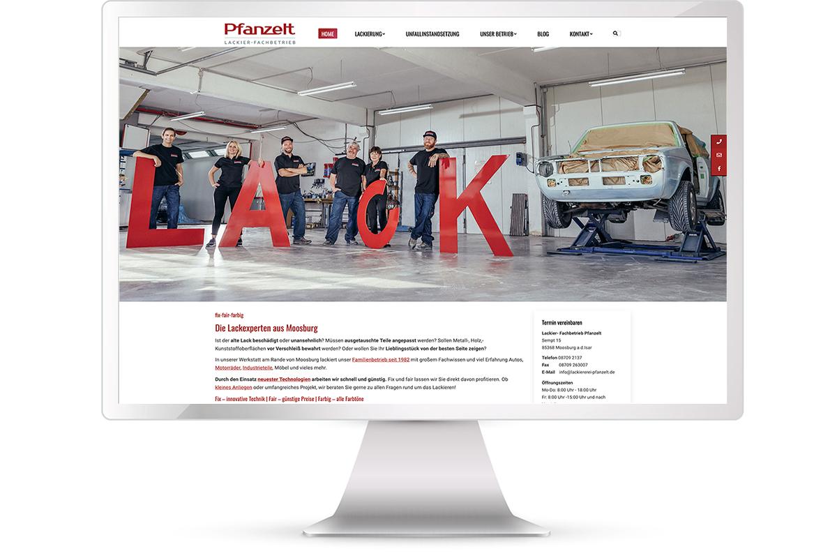 Website erstellen: Lackiererei Pfanzelt, Moosburg; Website: https://www.lackiererei-pfanzelt.de