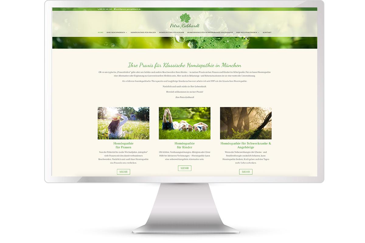 Website erstellen, Gerlinde Galster, Mainburg