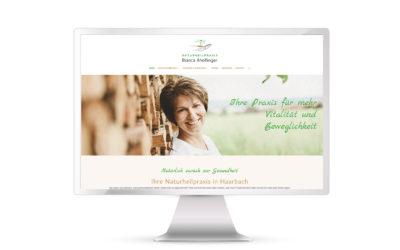 Neue Website für Naturheilpraxis Bianca Ahollinger