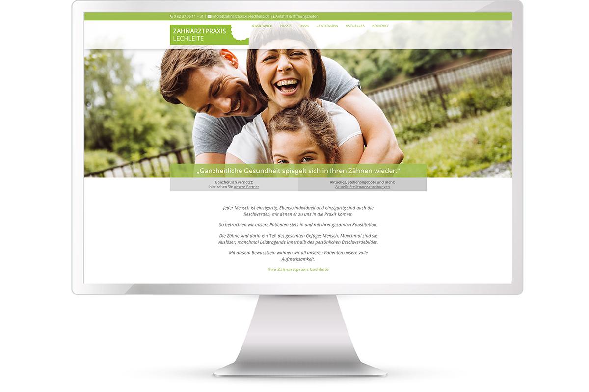 Website erstellen,Zahnarztpraxis Lechleite, Rehling; Website: https://zahnarztpraxis-lechleite.de