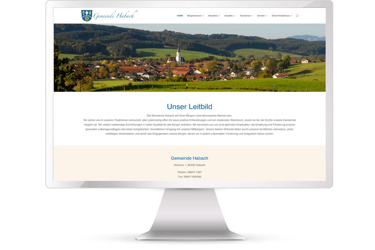 Website erstellen: Gemeinde Habach; Website: https://habach.de