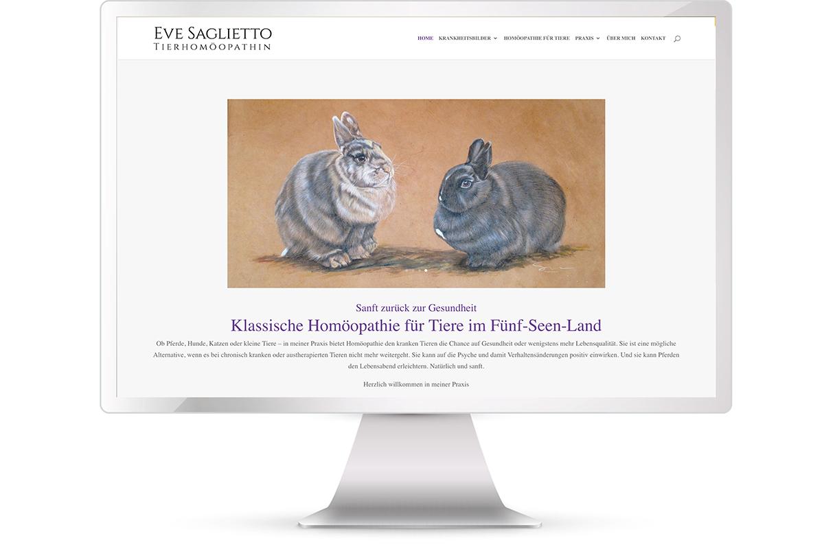 Website erstellen: Tierhomöopathie Eve Saglietto, St. Heinrich; Website: https://tierhomoeopathie-saglietto.de