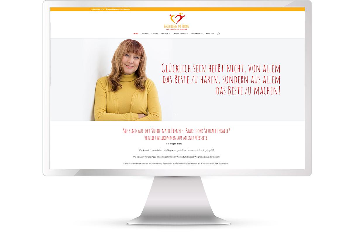 Website erstellen: Marlies Potthoff, Einzel-, Paar- und Sexualtherapie, München; Website: https://beziehung-im-fokus.com