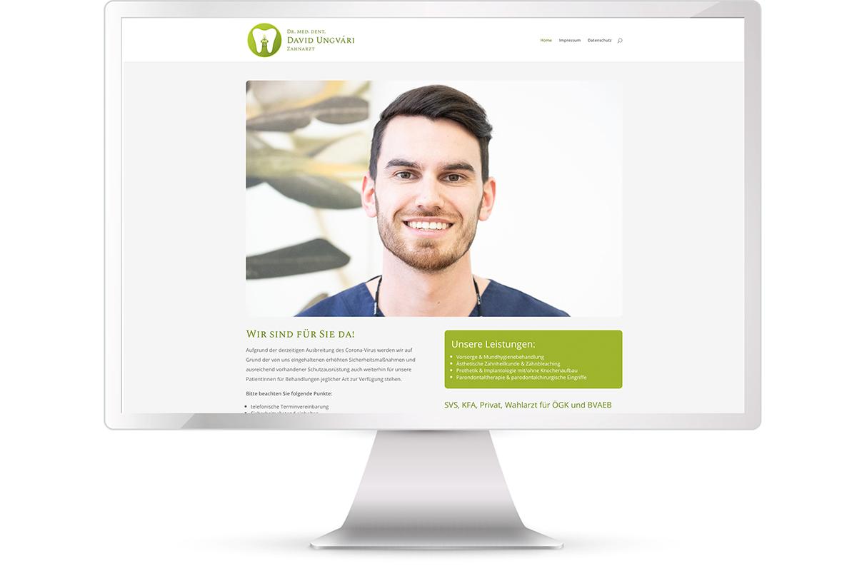 Webite erstellen Zahnarzt Dr. David Ungvari, Graz; Website: https://ungvari.at