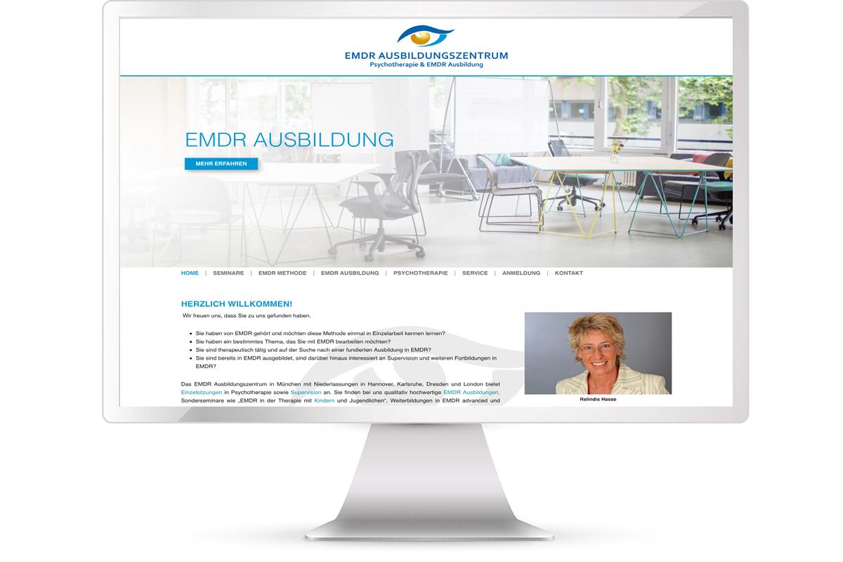 Website erstellen: EMDR Ausbildung München Relindis Hasse; Website: https://emdr-ausbildungszentrum.de