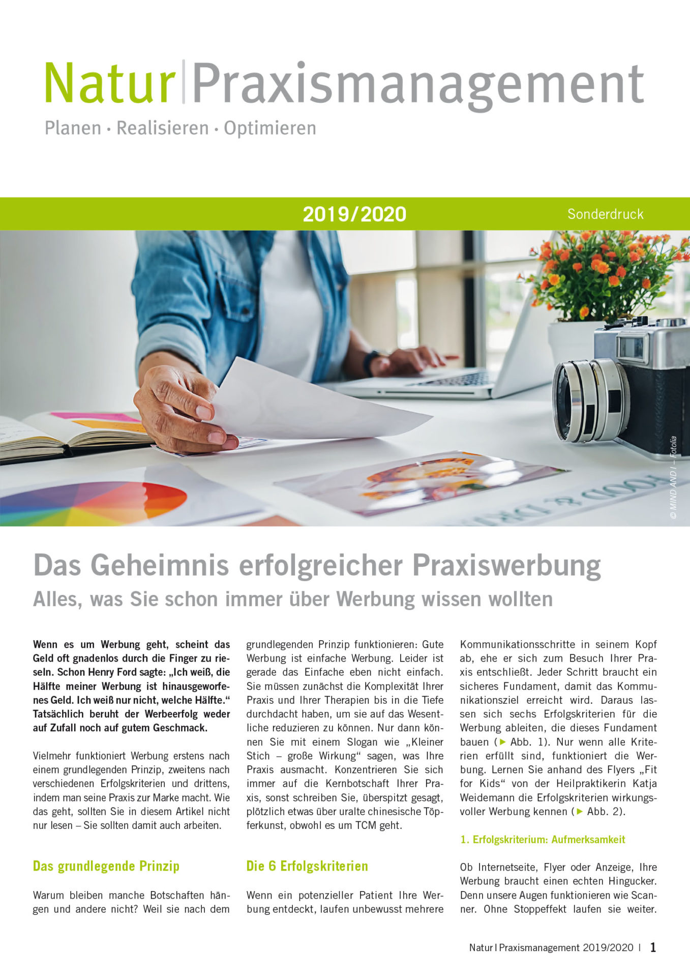 Natur Praxismanagement Artikel CoMed 2019/2020; Heidrun Peschen und Sabine Schmidt-Malaj