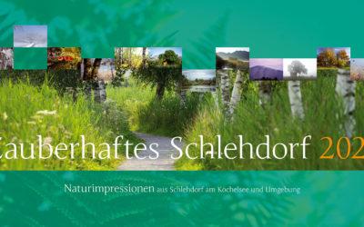 Neu: Bildkalender 2021 mit Schlehdorfer Naturmotiven