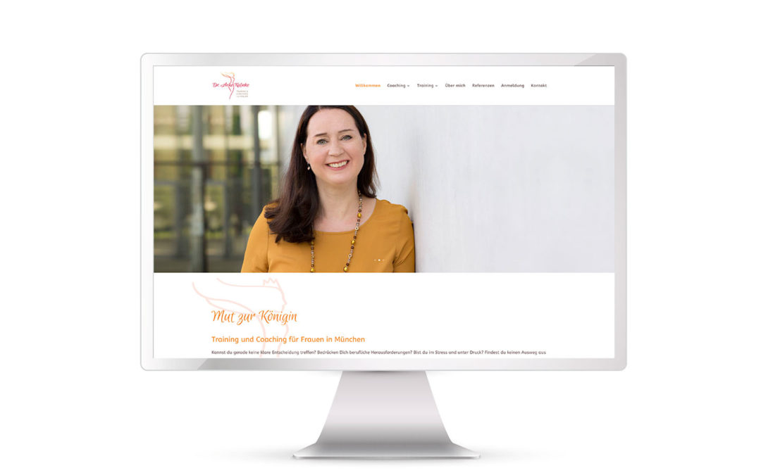 Website Anke Kalinke, Trainerin & Coach, online!