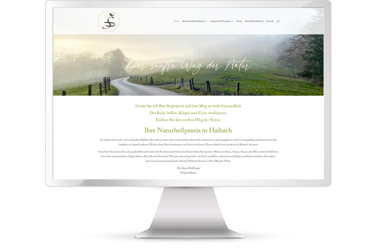 Website Sonja Drolshagen, Naturheilpraxis