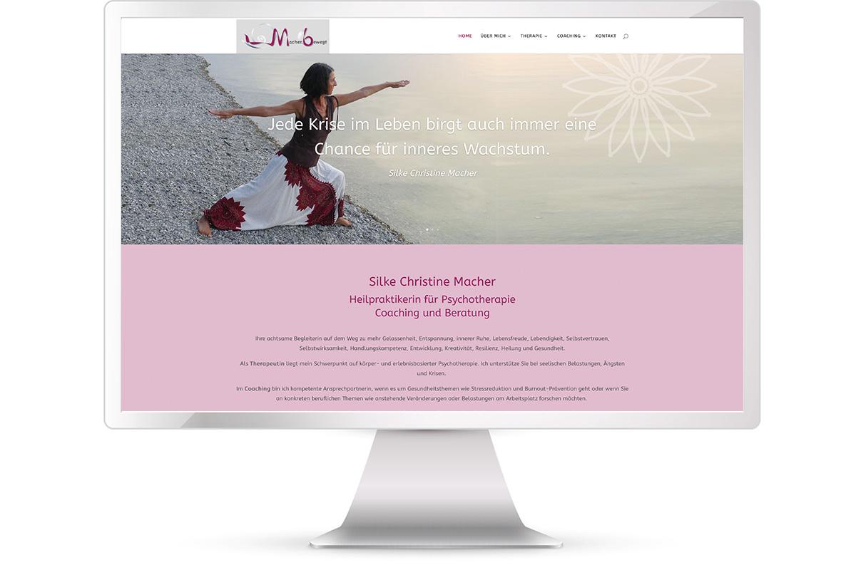 Website erstellen Silke Macher, Heilpraktikerin Psychotherapie